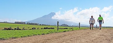StockRock Shane Smith with Farmer Mark Muller on farm Taranaki2